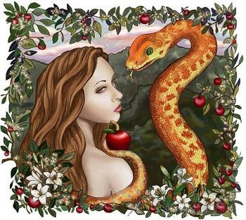 В Эдемском саду или изгнание из Рая (Стих)