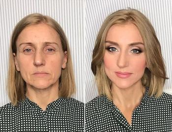Радикальное преображение женщин при помощи макияжа от российского визажиста