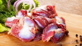 Куриные желудки - мягкие и нежны, без варки