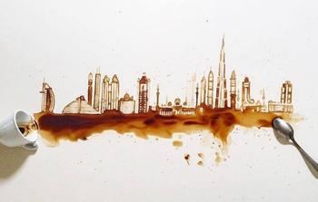 Кофе и чай превратились в красивое искусство Джулии Бернарделли