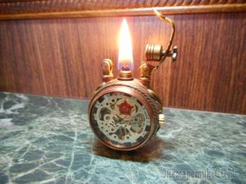 Зажигалка-часы