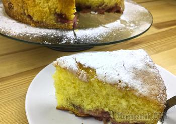 Лимонный пирог с клубникой