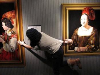 Прикольные картины из музея иллюзий