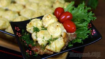 Отбивное мясо в соусе под пюре.  Порадуйте семью и гостей