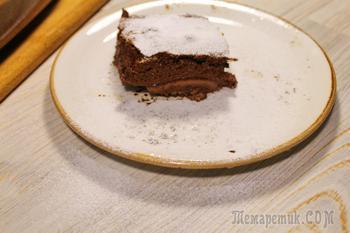 Нежная шоколадно-рисовая запеканка.