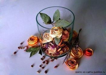 Розы из апельсина