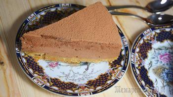 Шоколадный чизкейк со сгущенкой
