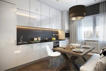 Только не плитка: свежие идеи оформления кухонного фартука