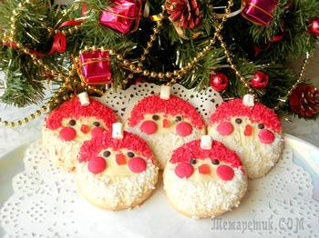 """Новогодний десерт """"Дед Мороз"""". Простая идея!"""