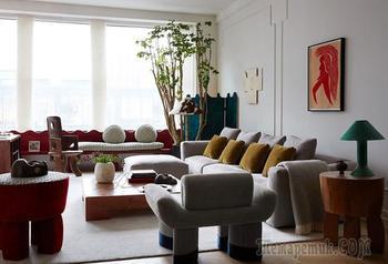 Лофт с эклектичными интерьерами в Нью-Йорке