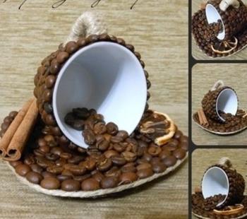 Поделки из кофейных зерен: полезные рекомендации по созданию шедевра своими руками