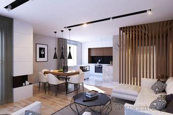 Минималистичный дизайн 3-комнатной квартиры 70 кв. м.