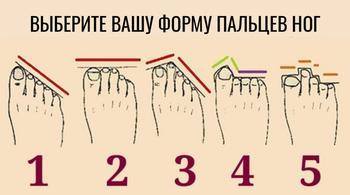 О чем может рассказать форма пальцев ног