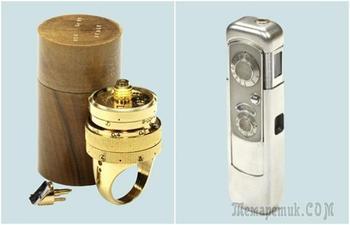 Кольцо с камерой и фотоаппарат в пачке сигарет: 11 шпионских примочек ХХ века
