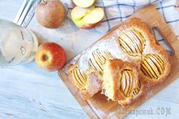 Немецкий яблочный пирог типа шарлотка