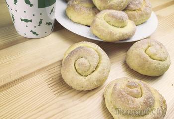Домашнее печенье на кефире «Сахарные колечки»