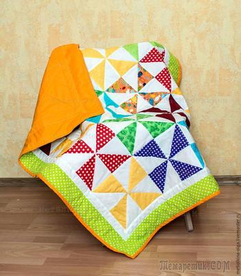 Шьем детское лоскутное одеяло для начинающих