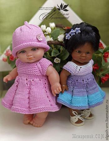 Вяжем платье «Первоцветик» для пупсов — одеваем всех от мала до велика!