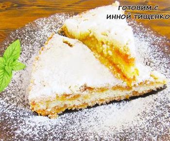 """Простой пирог с яблоками вместо шарлотки! Яблочный насыпной пирог """"Три стакана"""""""