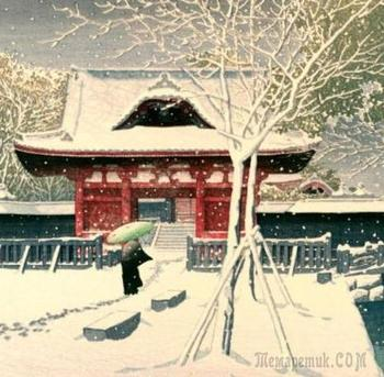 Хасуи Кавасэ (яп. 川瀬 巴水) (1883 - 1957) Часть 2-я. Зима в Японии