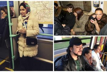 Звезды все же ездят в метро