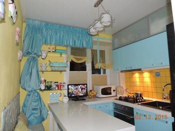 Кухня: мультяшные цвета на 5,6 квадратного метра