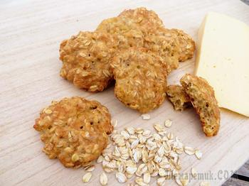 Возьмите овсянку и сыр, получите вкуснейшее печенье (без муки и сахара)