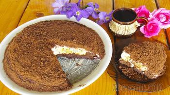 Торт «Норка крота»: очень нежный и вкусный шоколадно-банановый торт