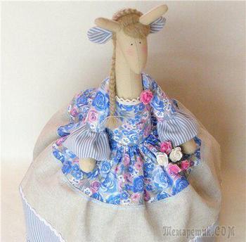 """Кукла-грелка на чайник - жирафа """"Розали"""""""