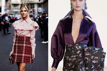Модные сочетания с блузками в 2020