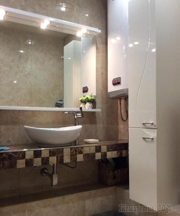 Женский минимализм, или Санузел БЕЗ ванны