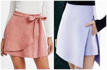 С чем носить ассимметричную юбку