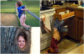 Детишки, которые стали жертвами своего любопытства