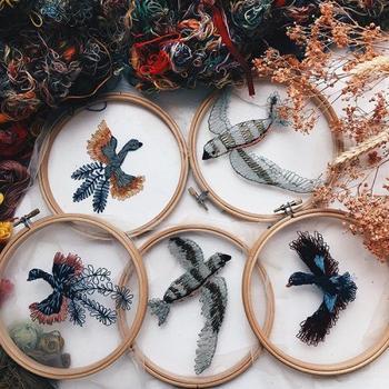 Вышивка на прозрачной тюле от Екатерины Марченко