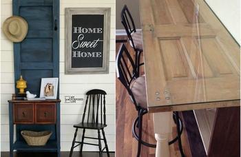 Невероятные идеи из старых дверей