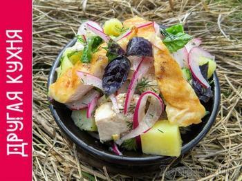 Фермерский салат (без майонеза)