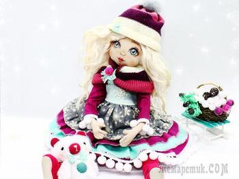 «Девочка-Зима»: создаём прелестную новогоднюю куколку