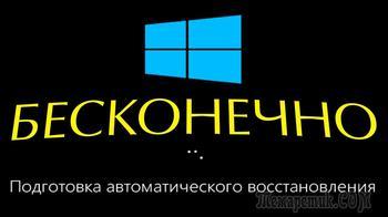 Подготовка автоматического восстановления и черный экран