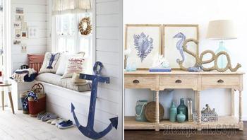 25 способов создать прихожую в стиле домика на морском побережье