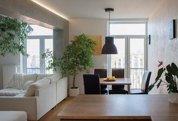Дизайн трехэтажной квартиры в Киеве