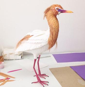 Невероятные бумажные птички от колумбийской художницы