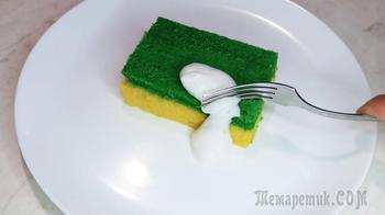 """Пирожное """"Губка для мытья посуды""""+ Съедобное мыло"""