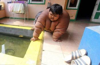 Самый толстый мальчик в мире весит 192 кг