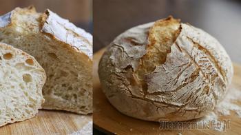 Хлеб без замеса по рецепту Джима Лэхей