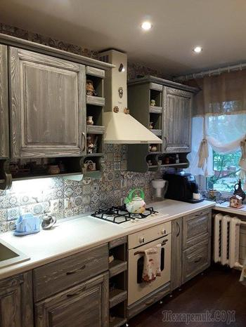 Кухня: нестандартная форма комнаты и милые детали