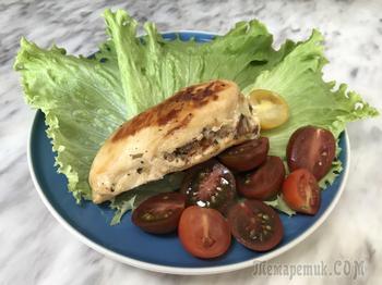 Куриная грудка с творожным сыром в мультиварке