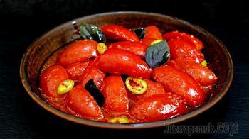 Пикантные маринованные помидоры – весь секрет в маринаде