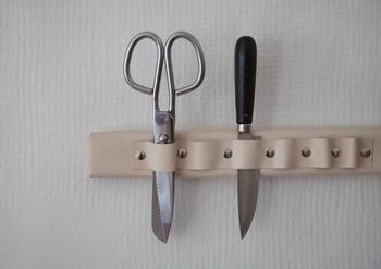 Кожаный органайзер для кухонных ножей