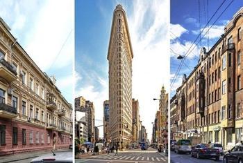 Зачем строили плоские здания, и как достигается такая оптическая иллюзия