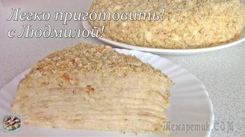 Постный (вегетарианский) кремовый торт